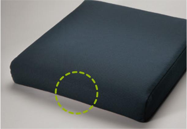 疲労と床ずれを防ぐ形状